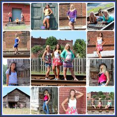 Cherished Moments Photography <3 senior girls poses, best friends, sisters pose ideas, group shot, downtown, railroad tracks