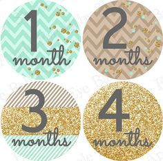 Baby Monthly Stickers PLUS Just Born 1st Year by appleeyebabyshop, $9.99