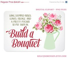 Gorgeous shabby chic roses that you can arrange in a pitcher. Build your own bouquet. Beautify your blog or branding, perfect for scrabooking. https://www.etsy.com/listing/158103164