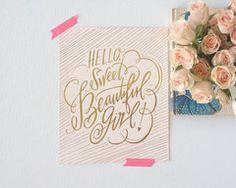 Beautiful Girl Print #lindsaylettersshop