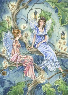 Regency Fairies art print by Meredith Dillman by meredithdillman, $10.00