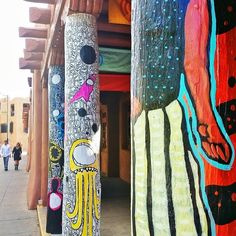 Santa Fe, NM in New Mexico. Beautiful art and authentic homes somewhat reminded me of parts of the Mezough Desert.