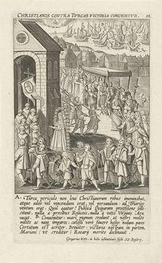 Mirakel van de Slag bij Lepanto, 1571, Theodoor Galle, 1610