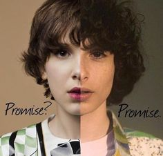 Like, you can be two people at once, but ONLY Finn and Millie can pull it off. I promise Stranger Things Quote, Stranger Things Actors, Stranger Things Aesthetic, Eleven Stranger Things, Stranger Things Season, Stranger Things Netflix, Millie Bobby Brown, Celebs, Celebrities