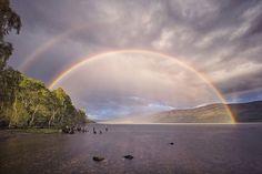 Rainbow and Reflection-bow, Loch Rannoch by spodzone - ViewBug.com