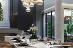 CONTEMPORARY ECO ATRIUM, AN INSPIRING LIVING ROOM PROJECT USING DELIGHTFULL'S LIGHTING DESIGNS - see more at http://www.delightfull.eu/en/inspirations/interiors-decor/contemporary-eco-atrium-inspiring-living-room-project/