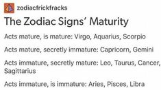 Zodiac Signs - The Signs Maturity - Wattpad