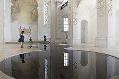 Beautiful 'Oil Spill Puddles' On Church Floor, Creates A Mystical Installation - DesignTAXI.com