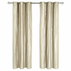 Caramel crinkle curtains