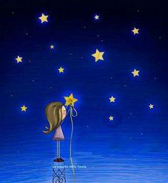 Good Night Wishes, Good Night Moon, Moon Art, Whimsical Art, Cute Illustration, Stars And Moon, Night Skies, Wallpaper, Photo Art