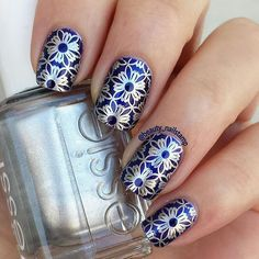 """89 Likes, 3 Comments - @beauty_nailstamp on Instagram: """" Morgan Taylor Royal Applique Stamping plate Born pretty BPL-028 Stamping polish Essie No Place…"""""""
