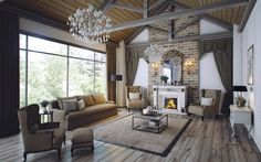 Traditional Living Area on Behance