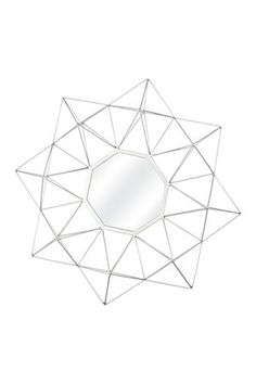 """This faceted wire mirror is sure to make a statement in any room. Measures 70x78cm.<div class=""""pdpDescContent""""><BR /><b class=""""pdpDesc"""">Dimensions:</b><BR />L70xW8xH78 cm</div>"""