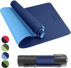 Tapis Fitness Tapis Yoga, Tapis Sport en TPE Matériaux Recyclable, Ultra Antidérapant Durable, 183x61x0,6 cm, Non Toxique Card Case, Wallet, Cards, Bag, Maps, Playing Cards, Purses, Diy Wallet, Purse