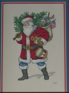"""""""All-American Santa"""", 1994, pattern by Carol Emmer."""