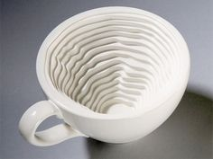 Topographic Mug:  Unique mug created by talented industrial designer Iohanna Pani.