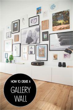 DIY Gallery Wall - How to create a gallery wall |Bilderwand WOHN:PROJEKT - der Mama Tochter Blog für Interior, DIY, Dekoration und Kreatives