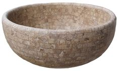 Shop a large variety of unique marble, travertine, limestone and onyx bathroom vessel sinks. Largest suppliers of unique natural stone vessel sinks in Houston, Texas Stone Bathroom Sink, Ceramic Tile Bathrooms, Stone Sink, Beige Marble, Travertine, Mosaic Tiles, Natural Stones, Decorative Bowls, Home Improvement