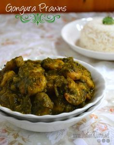 Gongura Prawns   Gongura Royyalu Recipe Popular Andhra gongura prawns is sorrel leaves cooked with prawn and mild spices to make this delicious curry. Veg Recipes, Curry Recipes, Seafood Recipes, Vegetarian Recipes, Chicken Recipes, Cooking Recipes, Indian Prawn Recipes, Andhra Recipes, Recipes