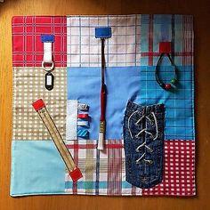 Fidget quilt dementia, beads, laces