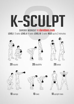 The kettlebell deadlift is a great functional exercise for your legs, lower back and abs. Here's how to perform the kettlebell deadlift: Fitness Workouts, Fun Workouts, At Home Workouts, Fitness Motivation, Killer Workouts, Easy Daily Workouts, Muscle Workouts, Darebee, Cardio Training