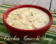 This Chicken Gnocchi Soup is absolutely fabulous. Creamy, rich and flavorful. Gnocchi are Italian dumplings made from potatoes and flour found in the pasta section.