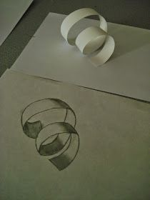a faithful attempt: Paper Curl Observational Drawing