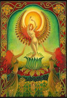 Carte vierge de la Solstice d'été de la déesse par EmilyBalivet