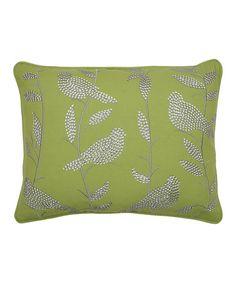 Look at this #zulilyfind! Dark Citron Sequin Bird Canvas Throw Pillow, $25 !!  #zulilyfinds