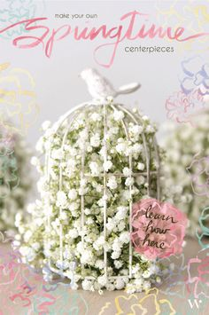 Learn How To Create Gorgeous Springtime Wedding And Party Centerpieces - Spring Wedding - Birds and Blooms - DIY - DIY Wedding - Wedding Planning - Pink Wedding