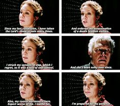 The queen's confession... I was laughing so hard!