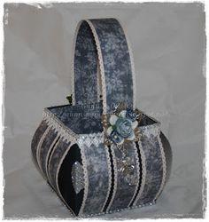 Basket, kurv, paperfolding, papirbretting, scrapbooking, scrapbook, 3D, paper, papir, Maja Design