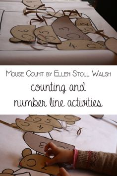 Mouse Count by Ellen Stoll Walsh - Number Line and Counting activity