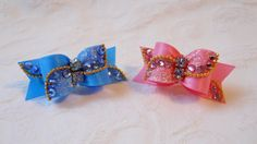 Hey, I found this really awesome Etsy listing at https://www.etsy.com/listing/218279279/dog-bow-58-crystal-wave-dog-bow