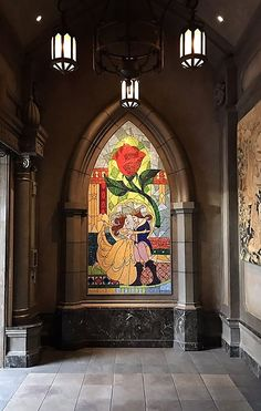 FL –  Be Our Guest Restaurant, Magic Kingdom, Walt Disney World Resort, Bay Lake, Orange county, Florida, USA. This mosaic is at the entrance of the 'Beauty and the Beast'-themed restaurant at Magic Kingdom, 1180 Seven Seas Dr. & World Dr. https://www.google.ca/maps/place/Be+Our+Guest+Restaurant/@28.412554,-81.5898161,15z/data=!4m5!3m4!1s0x88e7809889b675c7:0x49b5c94af915901!8m2!3d28.421424!4d-81.5808468