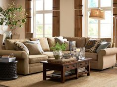 Pottery Barn Living Room Gallery Fireplaces For Small Rooms 172 Best Images Home Decor Beach Cottages Dekoration Chelsea Sectional Floor Task Lamp Brenchwright Coffee Table With Rustic Mahogany Stain Bamileke Carved Wood Side L Shaped
