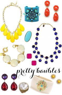 super cute and bright baubles for spring/summer!