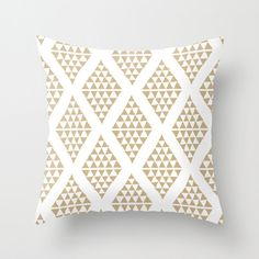This organic cotton pillow cover features my original pattern of triangles in your choice of color (Colors shown are Sand, Black, Wine and Olive