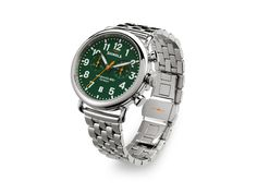 Loving this green dial Shinola! Available at Brown & Company Jewelers