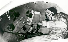 Cosmonaut Aleksey A. Leonov (left) and astronaut Thomas P. Stafford take part in Apollo-Soyuz Test Project (ASTP)joint crew training at the Cosmonaut Training Center (Star City) near Moscow. They are inside a Soviet Soyuz orbital module trainer. The two men were the commanders of their respective ASTP prime crews. ASTP was a cooperative space mission between the United States and the USSR.