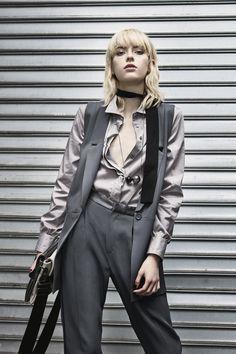 #Sisley #Sisleyfashion #FW2016 #woman #collection #fashion #trend #grey #blouse
