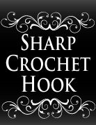 Sharp Crochet Hook - The easy way to crochet edgings and borders on fabric