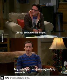 Sheldon logic. Big Bang Theory