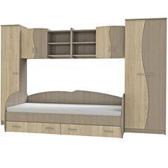 Set Dormitor Tineret, CindyII, 315x51x200, Sonoma - https://ideidesigninterior.ro/set-dormitor-tineret-cindyii-315x51x200-sonoma/