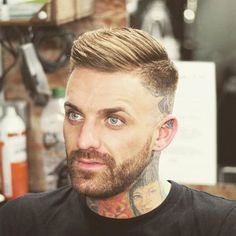 Modern Men's Hairstyles - Side Part with High Bald Fade