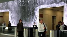 This actually feels the opposite of calming you usually get from a waterfall effect, but maybe 'stimulating-rushing' is a good metaphor for a business? Indoor Waterfall, Salesforce Lobby, San Francisco
