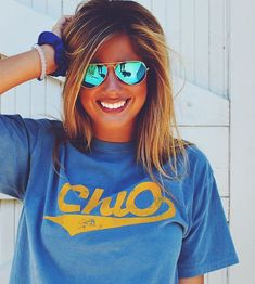 Chi O Classic Baseball Tee | Chi Omega | Bid Day Shirts | Sorority Apparel | Recruitment