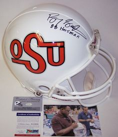 c33e951a9 Barry Sanders - Official Full Size Riddell Authentic Proline Football Helmet  - Oklahoma State Cowboys - PSA/DNA