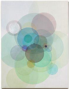 """Day Map O1517"" by Evan Venegas. Acrylic on canvas"