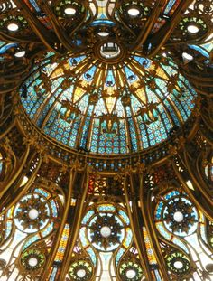 Ceiling of Galeries Lafayette in Paris   Pic Centre